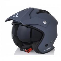 CASCO ACERBIS FS-807 FULL RACE PLATA/AZUL