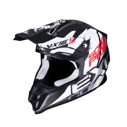 CASCO SCORPION VX-16 AIR ALBION NEGRO MATE/BLANCO
