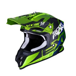 CASCO SCORPION VX-16 AIR ALBION VERDE MATE/NEGRO