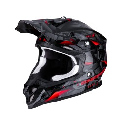 CASCO SCORPION VX-16 AIR PUNCH NEGRO/SILVER/ROJO