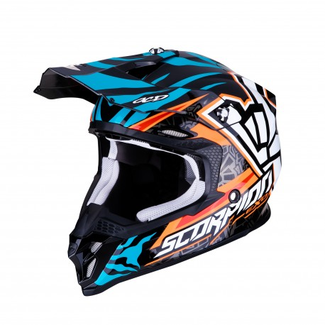 CASCO SCORPION VX-16 AIR REPLICA ROK BAGOROS NARANJA/AZUL