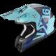 CASCO SCORPION VX-16 AIR MACH AZUL MATE/SILVER