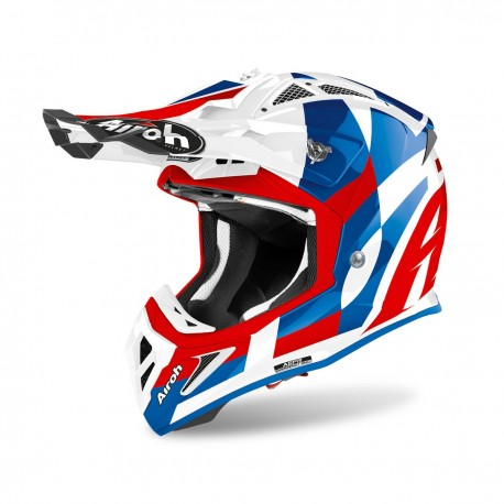 CASCO AIROH AVIATOR ACE TRICK AZUL BRILLO