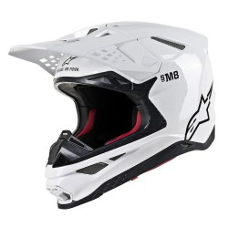 CASCO ALPINESTARS SUPERTECH S-M8 SOLID BLANCO BRILLO.