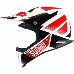 CASCO SUOMY X-WING GRIP BLANCO/ROJO/NEGRO