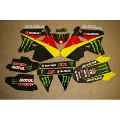 KIT COMPLETO ADHESIVOS MONSTER TEAM SUZUKI RM125 RM250 2001-2011