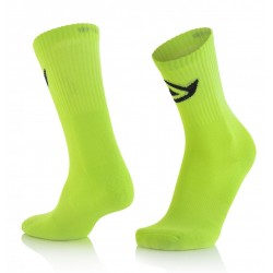 CALCETINES ACERBIS COTTON AMARILLO FLÚOR.