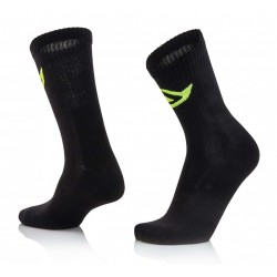 CALCETINES ACERBIS COTTON NEGRO.
