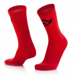 CALCETINES ACERBIS COTTON ROJO.