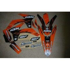 KIT COMPLETO ADHESIVOS FLU DESIGNS KTM SX 4 TIEMPOS 2011/ 2 TIEMPOS 2011