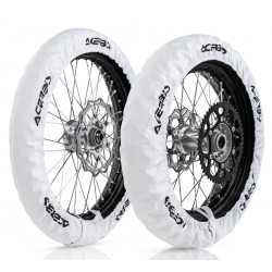Kit Funda Neumáticos Acerbis X-Tire Blanco.