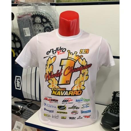 Camiseta World Champion Sergio Navarro 2020.