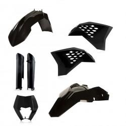 Kit Completo Plásticos Acerbis Ktm Exc/Excf 08-11 Negro.