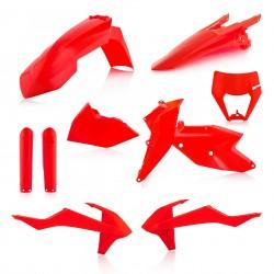 Kit Completo Plásticos Acerbis Ktm Exc/Excf 17-19 Naranja Flúor.