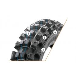 Neumático Borilli Blando Infinity Exc 120/100/18.