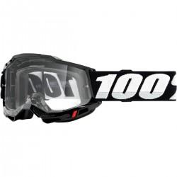 Gafas 100% Accuri 2 Negro - Lente Transparente.