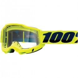 Gafas 100% Accuri 2 Amarillo - Lente Transparente.