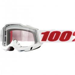 Gafas 100% Accuri 2 Blanco - Lente Transparente.