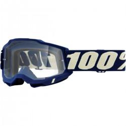 Gafas 100% Accuri 2 Azul Oscuro - Lente Transparente.