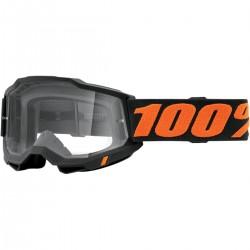 Gafas 100% Accuri 2 Gris Oscuro - Lente Transparente.