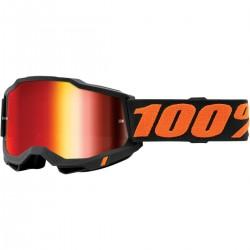 Gafas 100% Accuri 2 Gris Oscuro - Lente Espejo.
