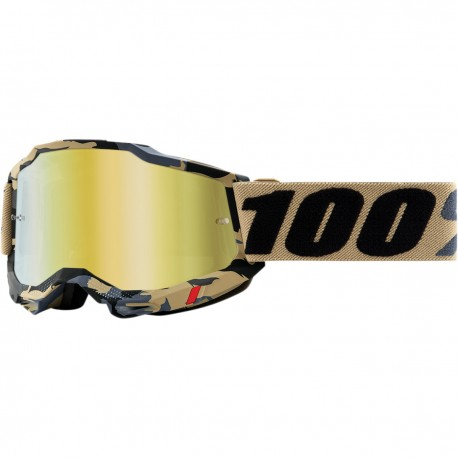 Gafas 100% Accuri 2 Dorado/Gris/Negro - Lente Espejo.