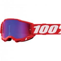 Gafas 100% Accuri 2 Rojo - Lente Espejo.