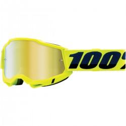 Gafas 100% Accuri 2 Amarillo Flúor - Lente Espejo.