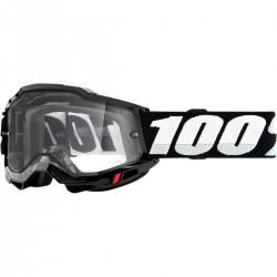 Gafas 100% Accuri 2 Enduro Negro - Lente Transparente.