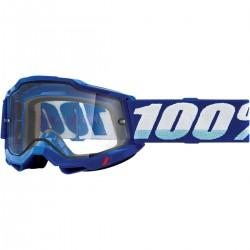 Gafas 100% Accuri 2 Enduro Azul - Lente Transparente.