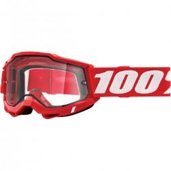 Gafas 100% Accuri 2 Enduro Rojo - Lente Transparente.