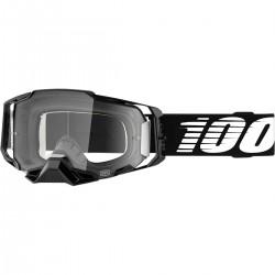 Gafas 100% Armega Negro - Lente Transparente.