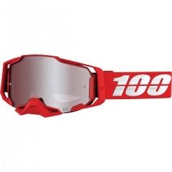 Gafas 100% Armega Rojo/Blanco - Lente Espejo.