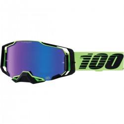 Gafas 100% Armega Negro/Verde - Lente Espejo.
