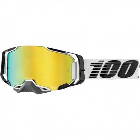 Gafas 100% Armega Blanco/Gris - Lente Espejo.