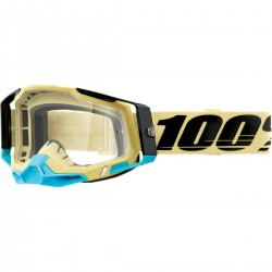 Gafas 100% Racecraft 2 Azul/Negro - Lente Transparente.