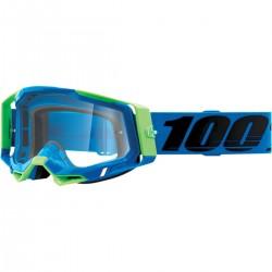 Gafas 100% Racecraft 2 Azul/Verde - Lente Transparente.