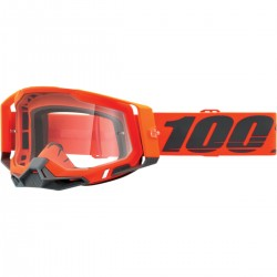 Gafas 100% Racecraft 2 Gris/Naranja - Lente Transparente.