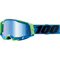 Gafas 100% Racecraft 2 Azul/Verde - Lente Espejo.