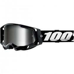 Gafas 100% Racecraft 2 Blanco/Negro - Lente Espejo.