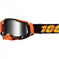Gafas 100% Racecraft 2 Naranja/Negro - Lente Espejo.