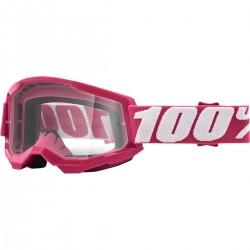Gafas 100% Strata 2 Rosa - Lente Transparente.