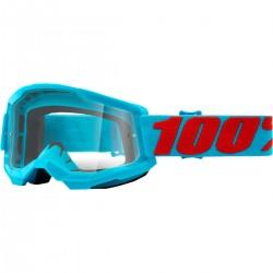 Gafas 100% Strata 2 Azul - Lente Transparente.