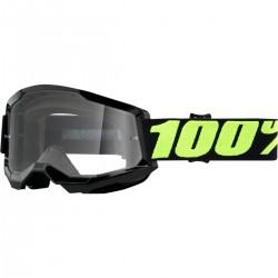 Gafas 100% Strata 2 Negro - Lente Transparente.