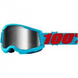 Gafas 100% Strata 2 Azul - Lente Espejo.