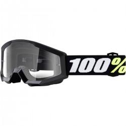 Gafas 100% Strata Mini Infantil Negro - Lente Transparente.