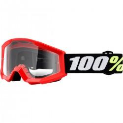 Gafas 100% Strata Mini Infantil Rojo - Lente Transparente.