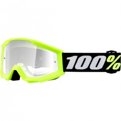 Gafas 100% Strata Mini Infantil Amarillo - Lente Transparente.