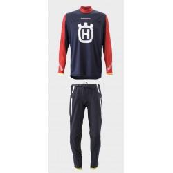 Equipación Husqvarna Jersey + Pantalón Original Rojo/Azul.