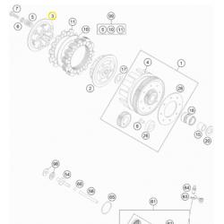 Plato de Presión Original Ktm Sx 105 04-11.